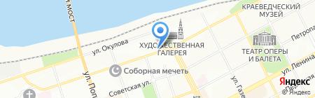 География на карте Перми