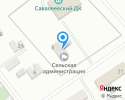 Схема местоположения почтового отделения 453015
