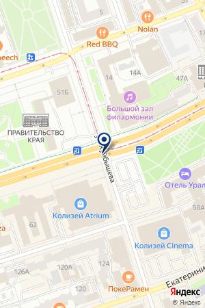 ОХРАННОЕ БЮРО КМК на карте Чусового