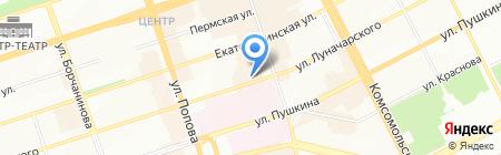 Модный квартал на карте Перми