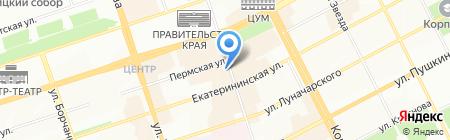 Рай на карте Перми