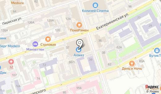 Парма-тур. Схема проезда в Перми