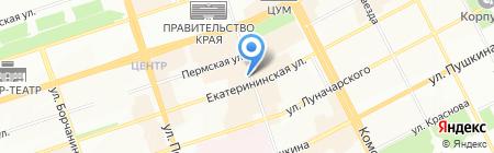 Джинсовый Дом на карте Перми