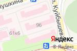 Схема проезда до компании Краевая клиническая инфекционная больница в Перми