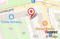 Схема проезда до компании Приволжская Мебель в Перми