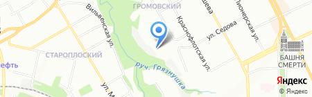 Реал на карте Перми