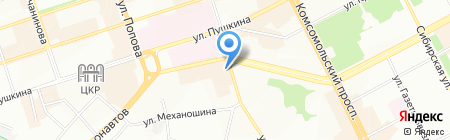 КАМА на карте Перми