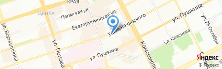 Банкомат КБ Транспортный на карте Перми