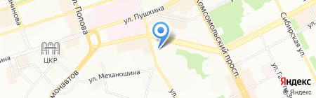 Батель на карте Перми
