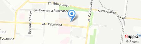 Магазин фатсфудной продукции на карте Перми