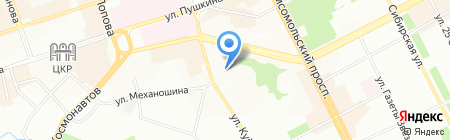 Академия путешествий на карте Перми