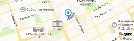 Проспект на карте Перми