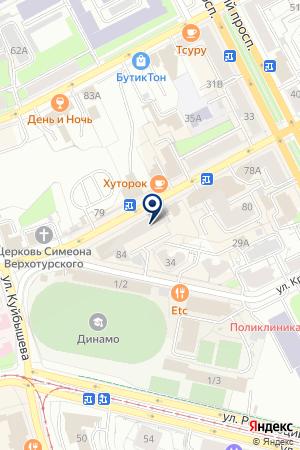 Клиника доктора Дыбаля на карте Перми