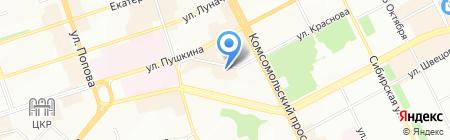 Градиент Групп на карте Перми