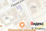 Схема проезда до компании Ева-торг в Перми
