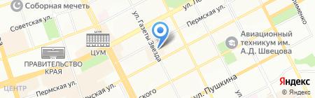 Капитель на карте Перми