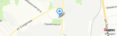 Субтил на карте Перми