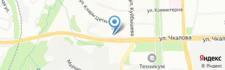 Средняя общеобразовательная школа №96 на карте Перми