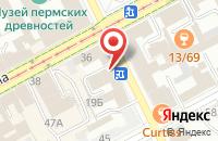 Схема проезда до компании Медиа Центр в Перми