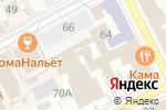 Схема проезда до компании Городской Центр Недвижимости в Перми