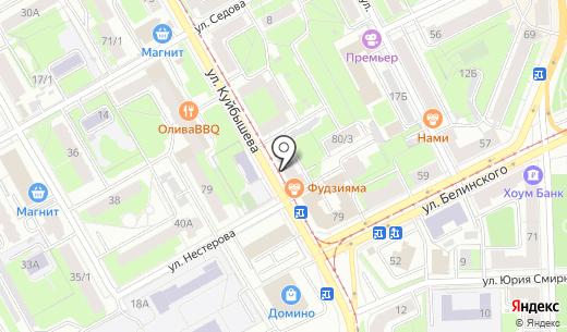 Оптим. Схема проезда в Перми