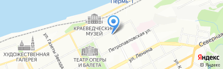 Срубовъ на карте Перми