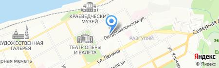 Кулинария на Петропавловской на карте Перми