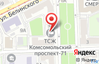 Схема проезда до компании Фэшн в Перми