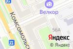 Схема проезда до компании Donut Club в Перми