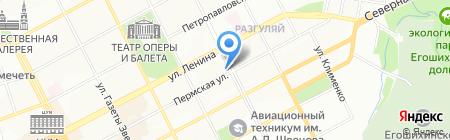 ПаVлин на карте Перми