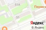 Схема проезда до компании Интэко-транс в Перми