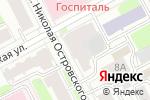 Схема проезда до компании Вертикаль в Перми