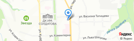Средняя общеобразовательная школа №77 с углубленным изучением английского языка на карте Перми