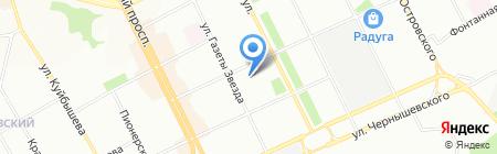 Дилижанс на карте Перми