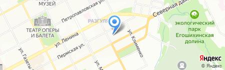 Александровский машиностроительный завод на карте Перми