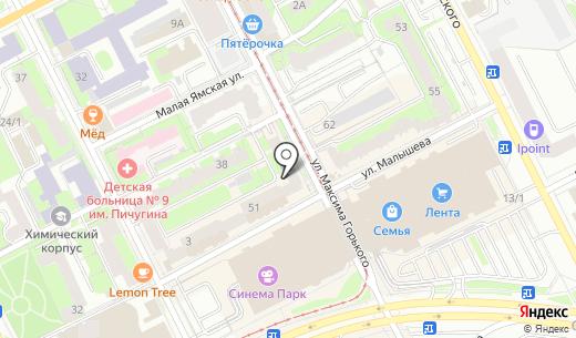 ЦУП. Схема проезда в Перми