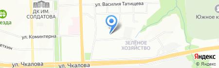 Махаон на карте Перми