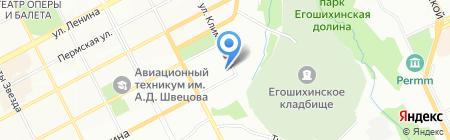 Партнер на карте Перми