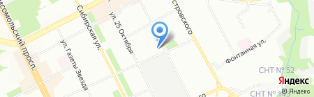 Вираж-Строй на карте Перми