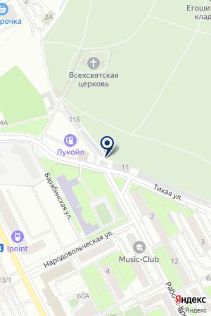 Автосервис на Тихой на карте Перми