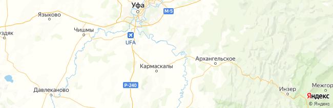 Башкирия на карте