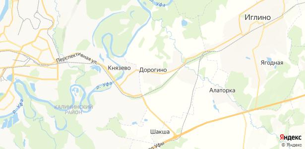Дорогино на карте