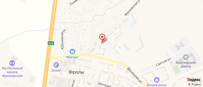 Карта расположения пункта доставки На Весенней в городе Фролы
