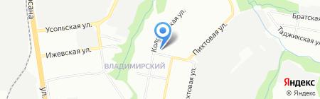 Средняя общеобразовательная школа №81 на карте Перми