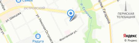 Бетека на карте Перми