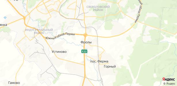 Фролы на карте