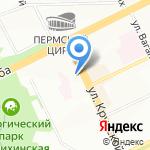 Уральские посикунчики на карте Перми