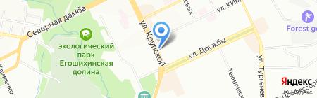 Сеть магазинов тканей и швейной фурнитуры на карте Перми