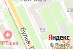Схема проезда до компании Пятьдесят оттенков в Перми