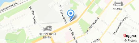 Метеор на карте Перми